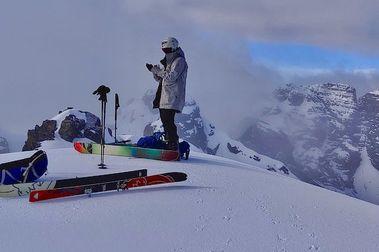 Backcountry a 5648 mts. en el Nevado de Condoriri