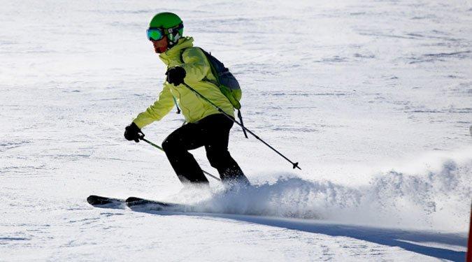 Esquiando el Sábado en La Parva
