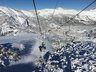 Subiendo por el telesilla Wenche, en Nevados de Chillán