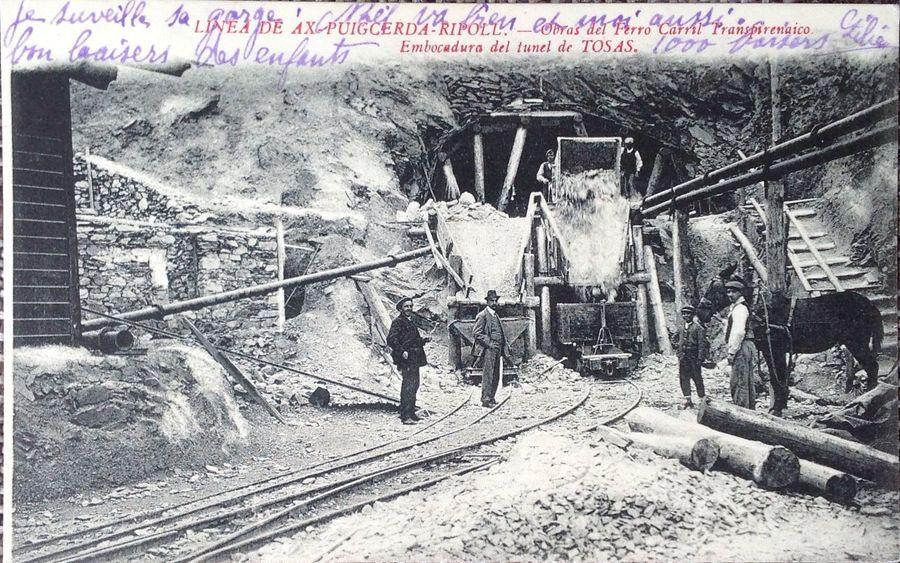 Obras en el túnel de toses