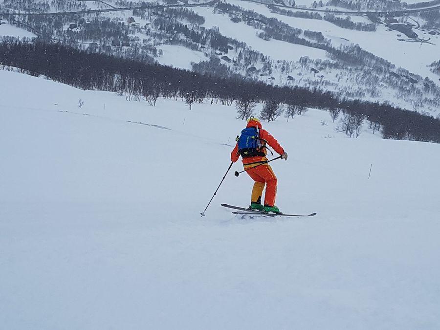 Necesidades técnicas. El cansancio y la nieve obligan a esquiar en modo survival…