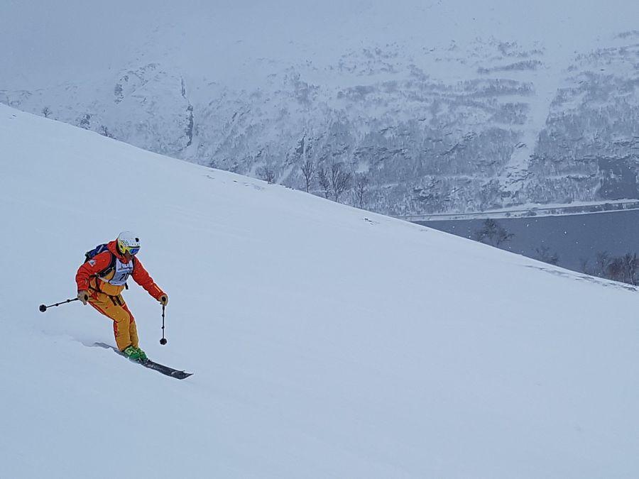 Esquiar con esta panorámica distrae…