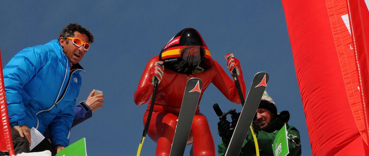 Robert Puente con los esquiadores españoles más rápidos del planeta