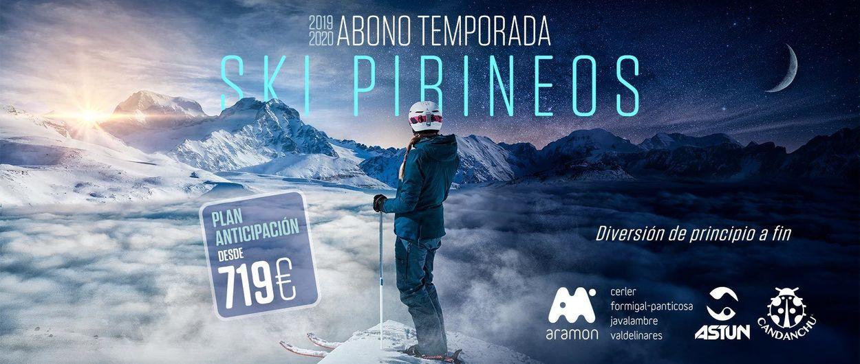 Precios y descuentos del forfait Ski Pirineos de Aramón, Candanchú y Astún