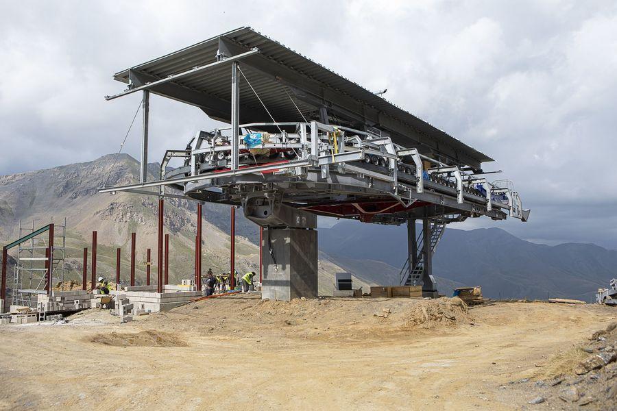Trabajos nuevo telesilla Castanesa en Cerler