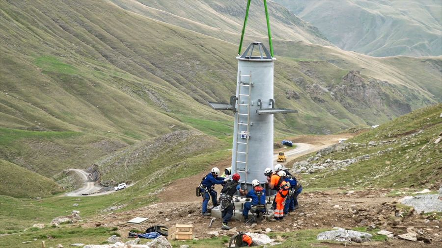 construcción telesilla de Castanesa