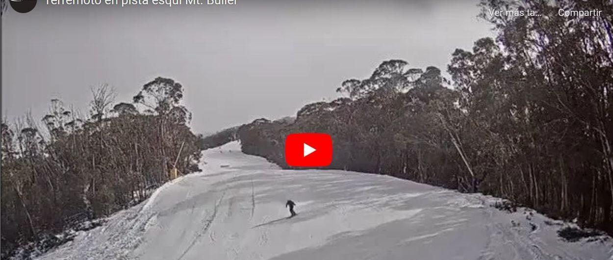 Así es esquiar mientras te sacude el terremoto de esta mañana en Australia