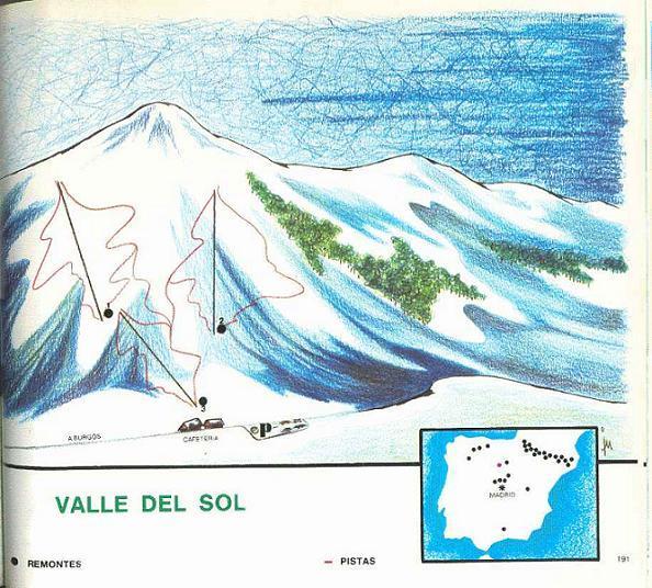 Plano de pistas de esqui de Valle del Sol