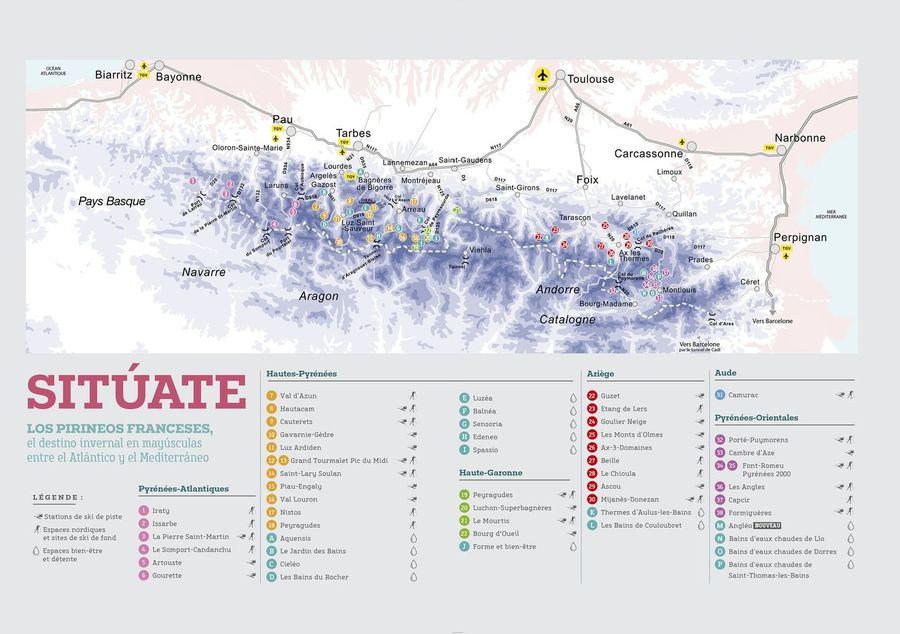 Mapa les Pyrenees