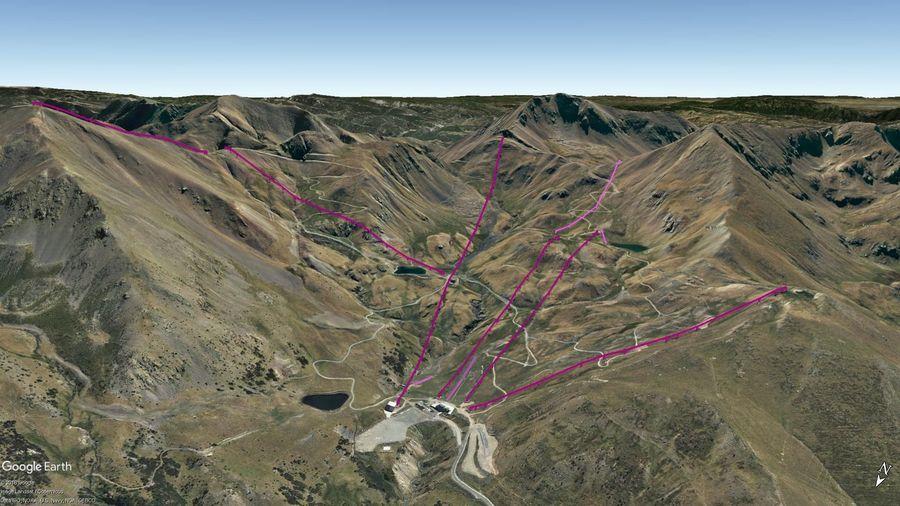 Vista Google Earth Boí Taüll  2019/20