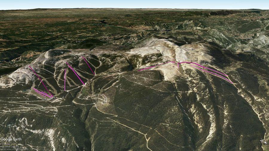 Vista Google Earth Port del Comte 2019/20