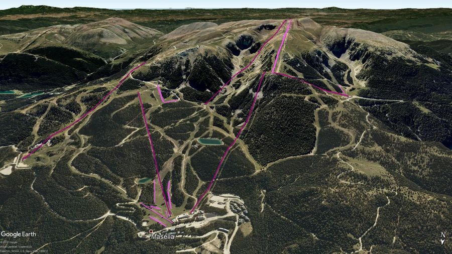 Vista Google Earth Masella 2019/20