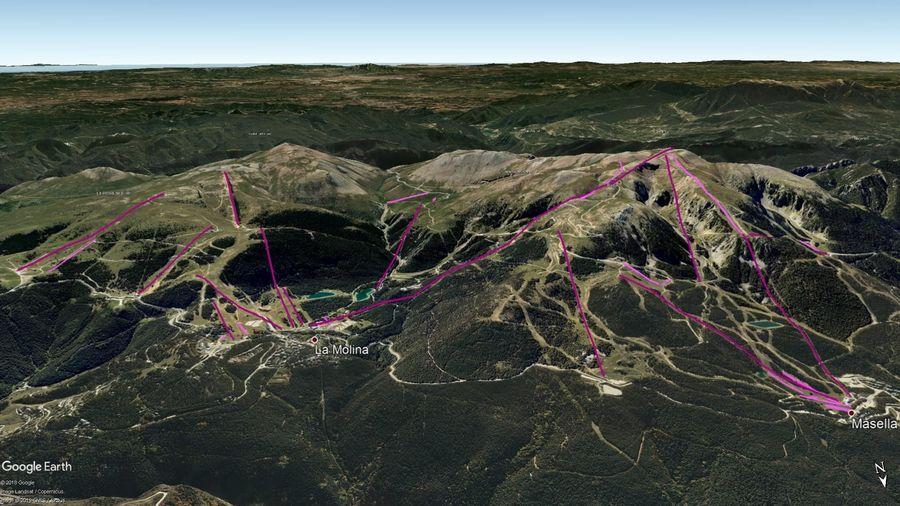 Vista Google Earth Alp 2500 (La Molina+Masella) 2019/20
