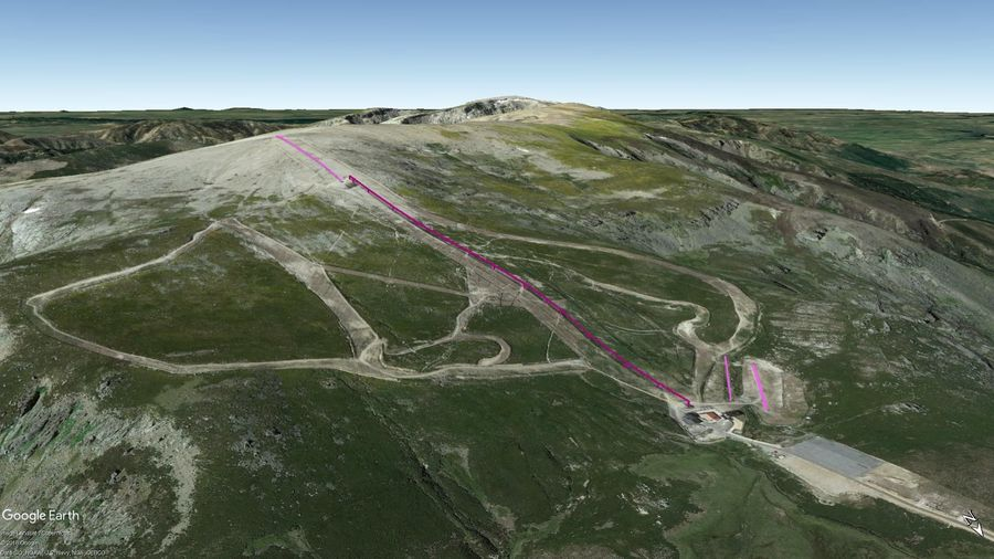 Vista Google Earth Sierra de Béjar 2019/20