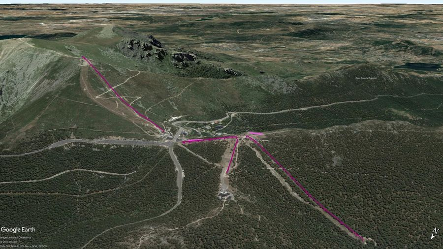 Vista Google Earth Puerto de Navacerrada 2019/20