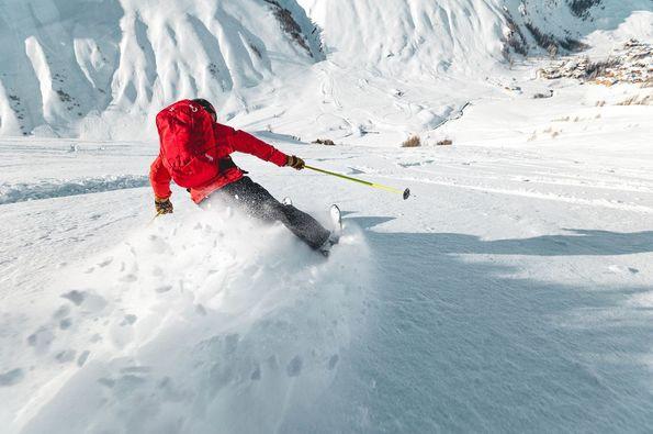 Nevando en Val d'isère