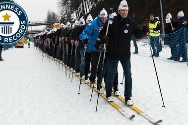 130 personas sobre un mismo esquí...y demás tonterías!