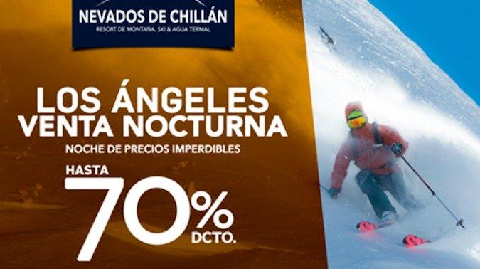 Y Ahora Los Ángeles recibe la Venta Nocturna de Nevados de Chillán