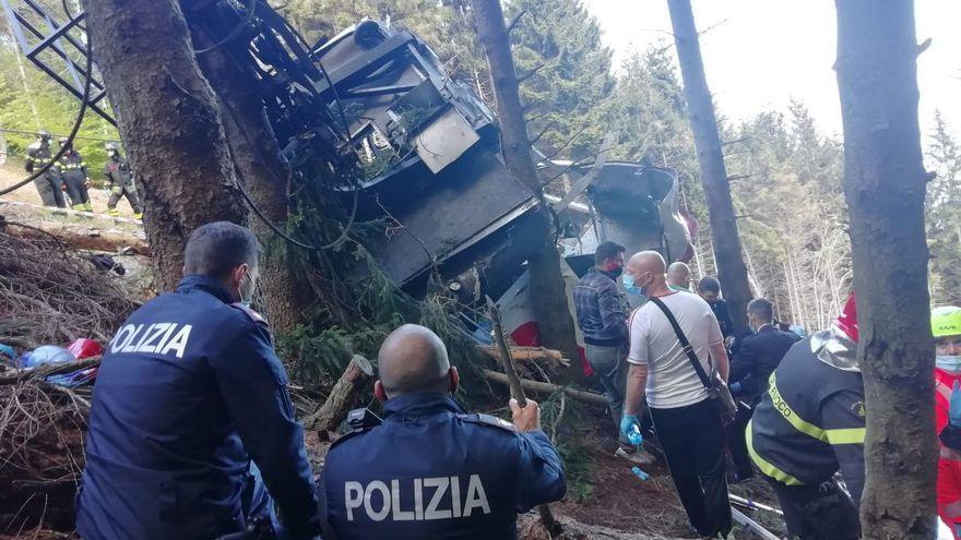 Accidente mortal caida teleferico de Mottarone 14 muertos