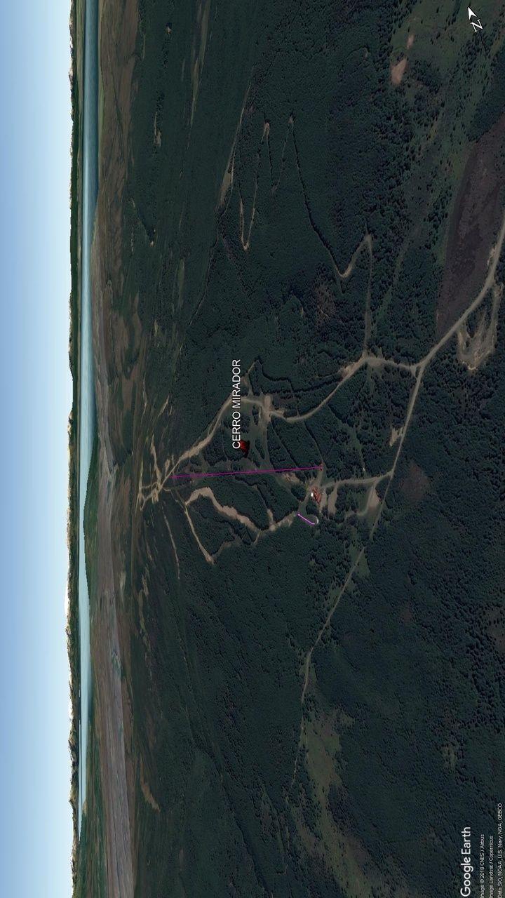 Vista Google Earth Cerro Mirador 2018