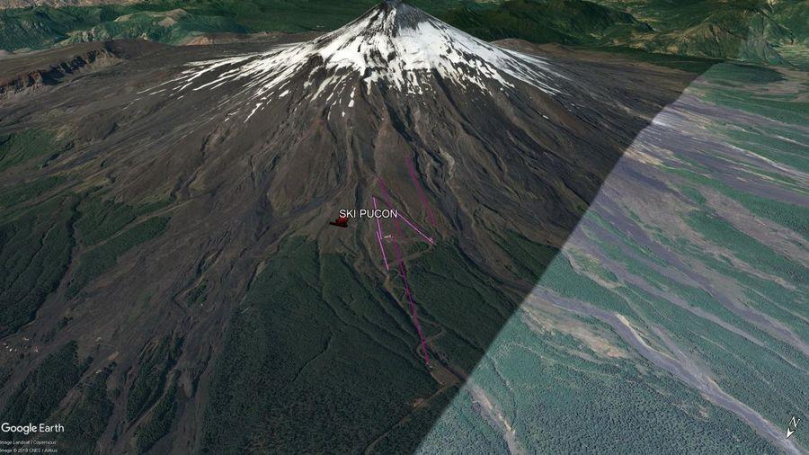 Vista Google Earth Ski Pucón  2018