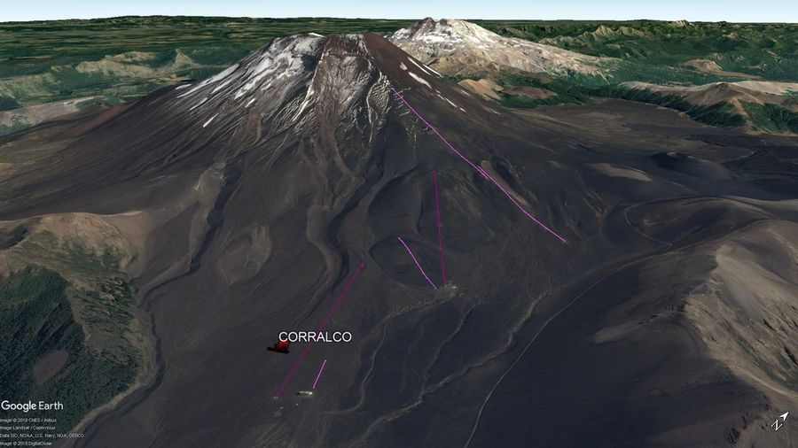 Vista Google Earth Corralco 2018