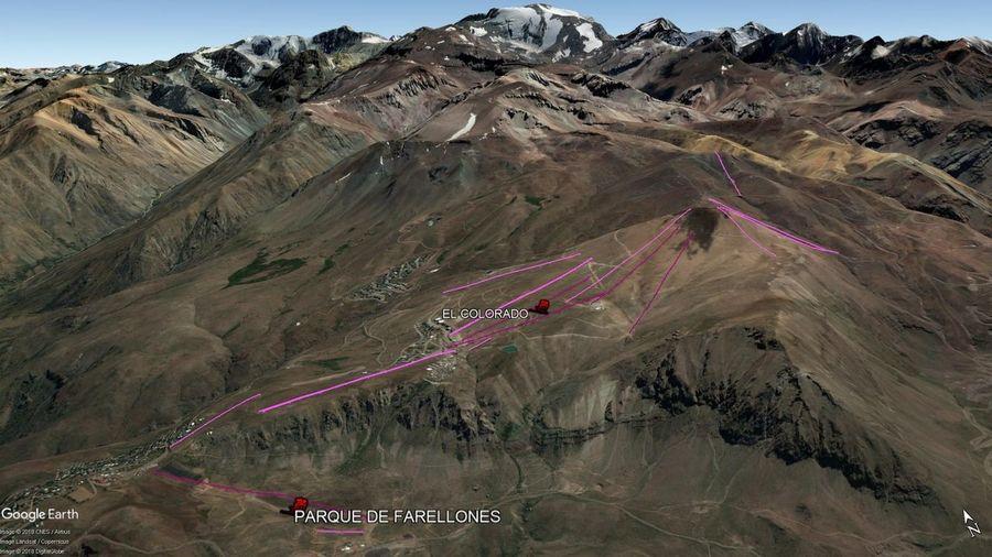 Vista Google Earth El Colorado - Farellones  2018