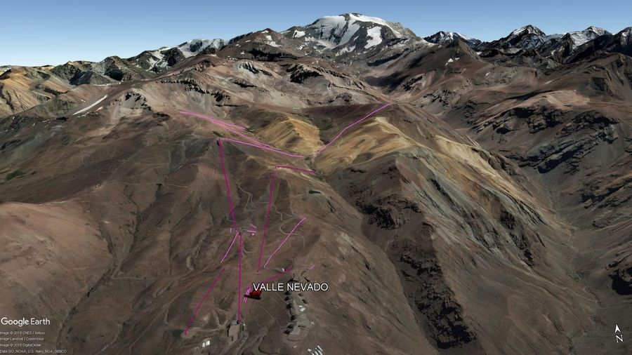 Vista Google Earth Valle Nevado  2018