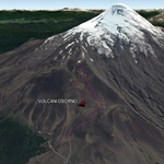 Vista Google Earth Volcán Osorno  2018