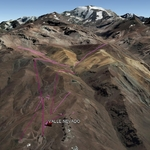 Vista Google Earth Valle Nevado  2018