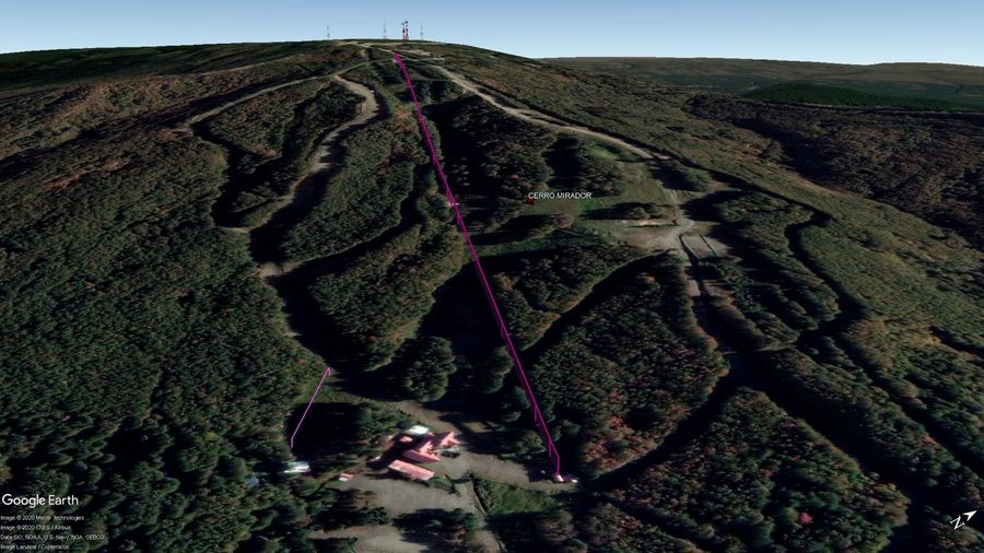 Vista Google Earth Cerro Mirador 2020