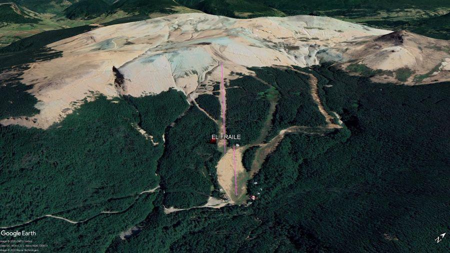 Vista Google Earth El Fraile 2020