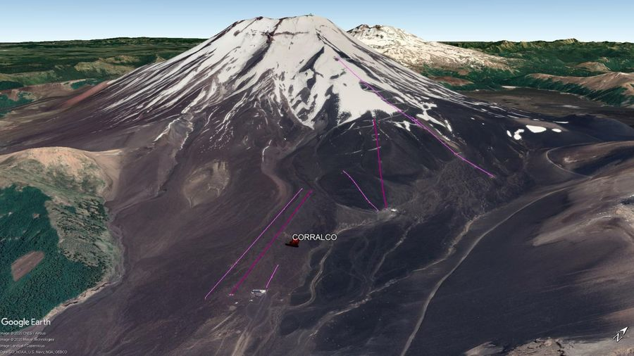 Vista Google Earth Corralco 2020