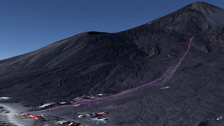 Vista Google Earth Antuco 2020