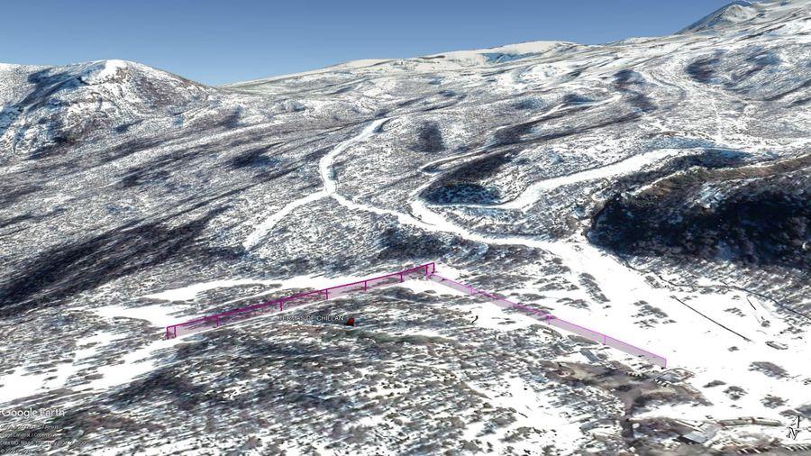 Vista Google Earth Termas de Chillán 2020