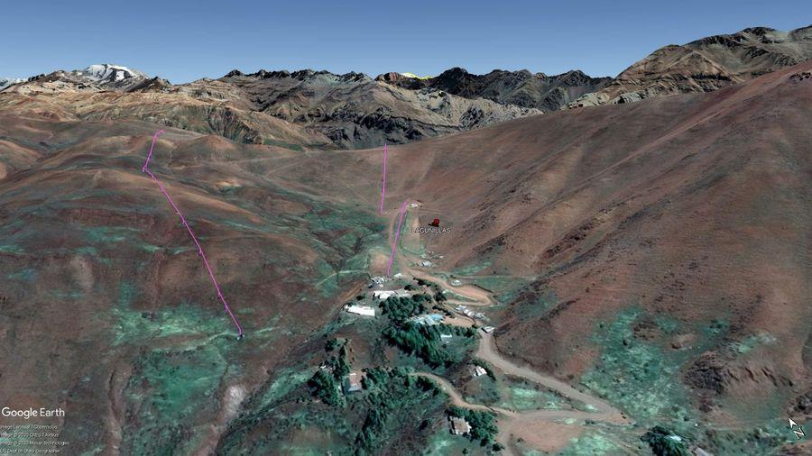 Vista Google Earth Lagunillas 2020