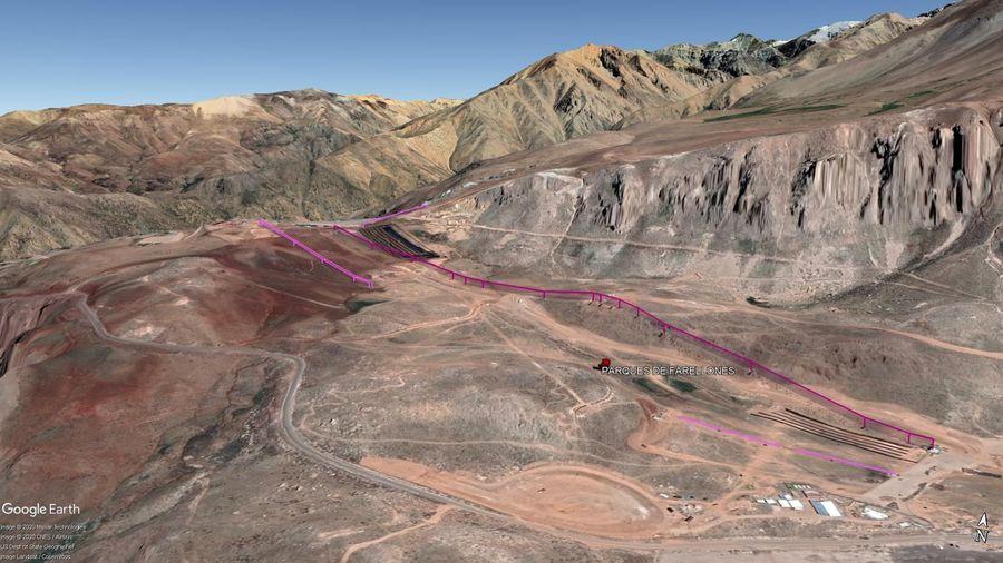 Vista Google Earth Parques de Farellones 2020