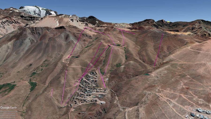 Vista Google Earth La Parva 2020