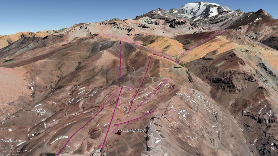 Vista Google Earth Valle Nevado 2020