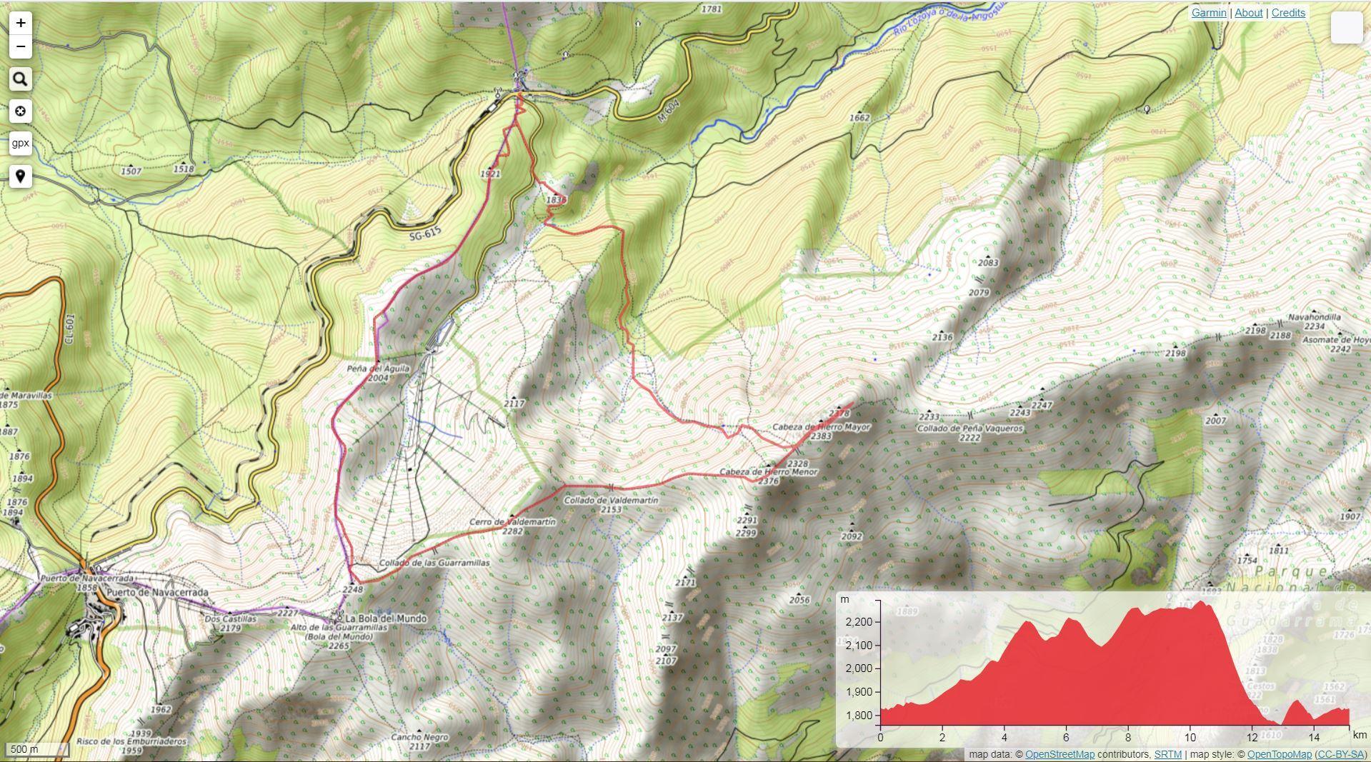 Rutas de montaña en Valdesquí