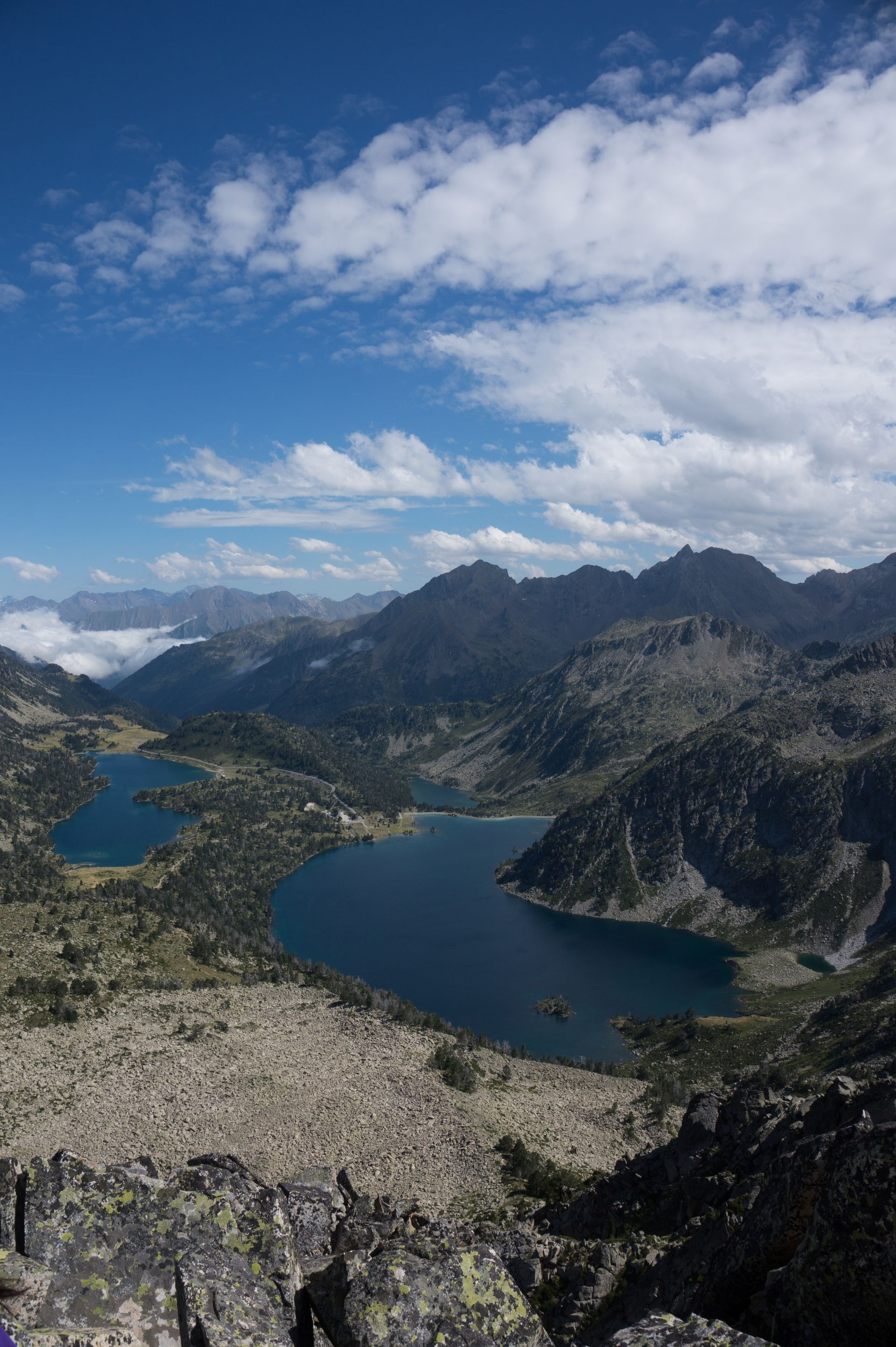 Lacs de Néouvielle desde la Hourquette d'Aubert
