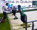 Esquiant a Dublin. Skiing in Dublin.
