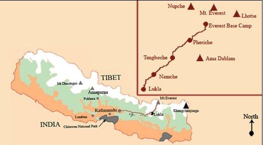 Fotografía de plano de la cordillera del Himalaya