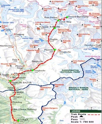 Fotografía de plano del trekking a relaizar