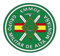 Fotografía del escudo del grupo militar de alta montaña