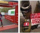 Una maratón con botas de esquí!