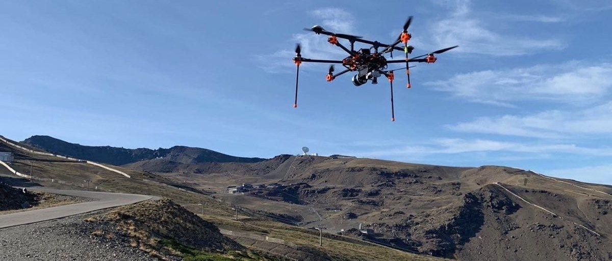 Sierra Nevada cartografía sus pistas de esquí con drones
