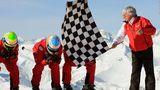 Bernie Eccleston bandera cuadros esqui