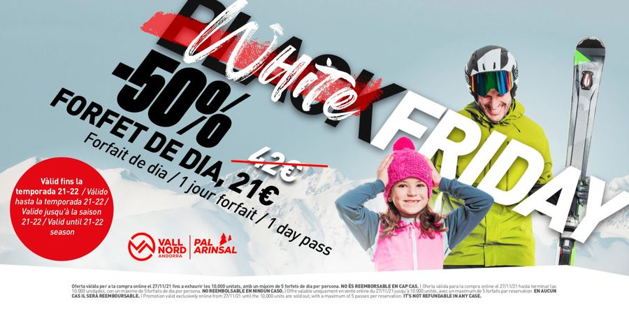 White Friday en Vallnord Pal Arinsal