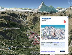 Google Earth invade los Alpes...